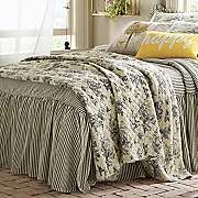 Toile Oversized Quilt, Window Treatments and Shams