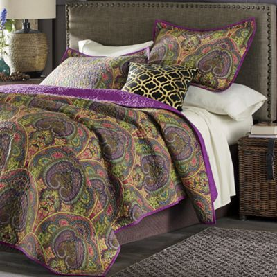Jewel Crown Paisley Oversized Quilt and Sham