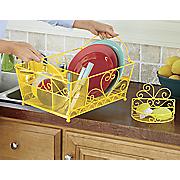 Scroll Dish Drainer and Sponge Rack