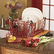 Scroll Dish Drainer and Sponge Rack