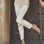 Metallic Animal Print Pant