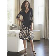 Scroll Border Dress by Midnight Velvet Style