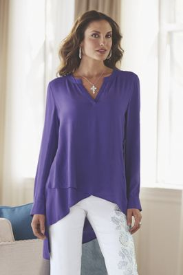 Layered Hem Blouse