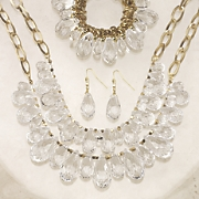 briolette necklace and earring set