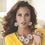 Carly Flowered Necklace
