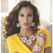Carly Flowered Jewelry