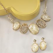glitter and swirl oval jewelry