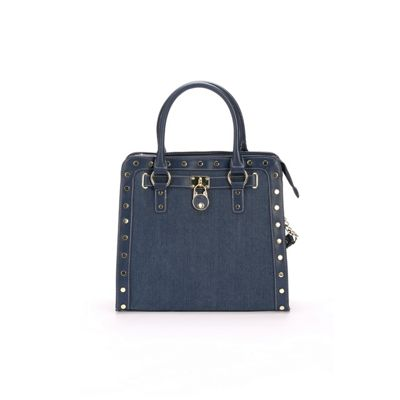 Denim Chain Padlock Bag