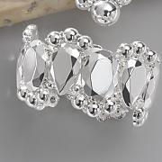 faceted metal bracelet