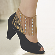 crystal chain ankle jewelry