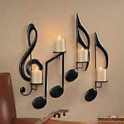 set of 4 musical sconces