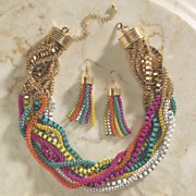 multicolor strand necklace