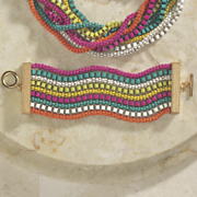 multicolor strand bracelet
