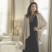 pointelle dot cardigan by mv style