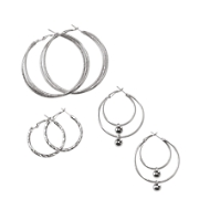 3 Pair Hoop Set