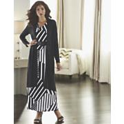 stripe weave cardigan