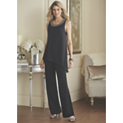 beaded asymmetrical jumpsuit
