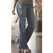 butterfly glitter jean