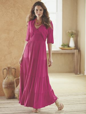 Maxi Dress and Shrug by Salsa Style