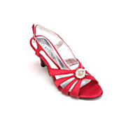 Multi-Strap Satin Shoe by Classique