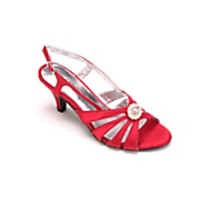 multi strap satin shoe by classique