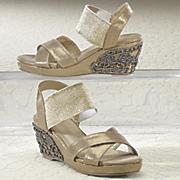 embellished heel sandal by midnight velvet