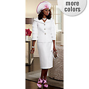 fanny hat and skirt suit