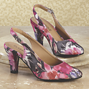 floral print slingback by classique