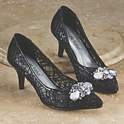 Lace Embellished Pump by Midnight Velvet