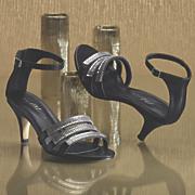 three strap sandal by midnight velvet