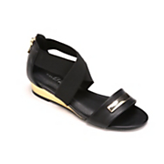 Gold Wedge Sandal by Midnight Velvet