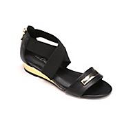 gold wedge sandal by midnight velvet