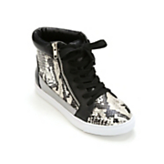 Mixed Media High-Top Shoe by Midnight Velvet