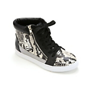 mixed media high top shoe by midnight velvet