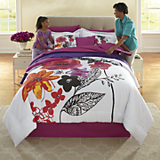 Jewel Flower Comforter Set and Window Treatments