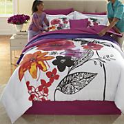 Jewel Flower Comforter Set and Window Treatments