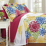 summer garden chenille bedspread and sham