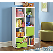 colorful cube bookcase
