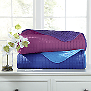 reversible microfiber coverlet set