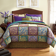 Cambria Comforter Set, Decorative Pillow and Window Treatments