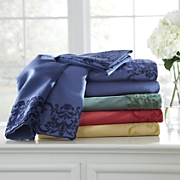 flocked microfiber sheet set