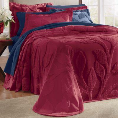Leaf Chenille Bedpsread & Sham