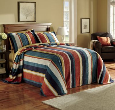Hampton Stripe Bedspread and Sham