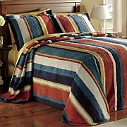 Hampton Stripe Bedspread and Sham
