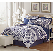 Wilmont Comforter Set, Decorative Pillow and Window Treatments