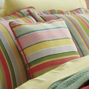 bright stripe decorative pillow