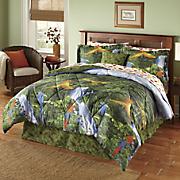 Rainforest Complete Bed Set, Decorative Pillow and Window Treatments