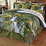 Rainforest Complete Bed Set, Decorative Pillow and Window Treatments