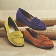 suede loafer by bijou
