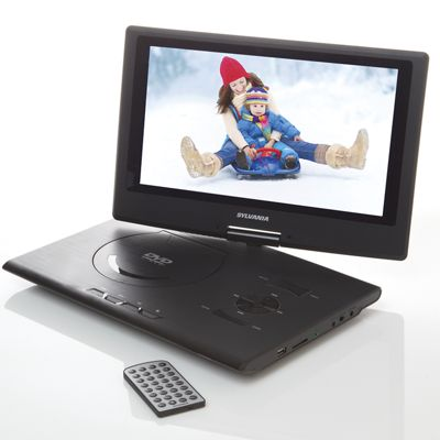 13 inch portable dvd player with swivel screen by sylvania from ginny 39 s jw718989. Black Bedroom Furniture Sets. Home Design Ideas